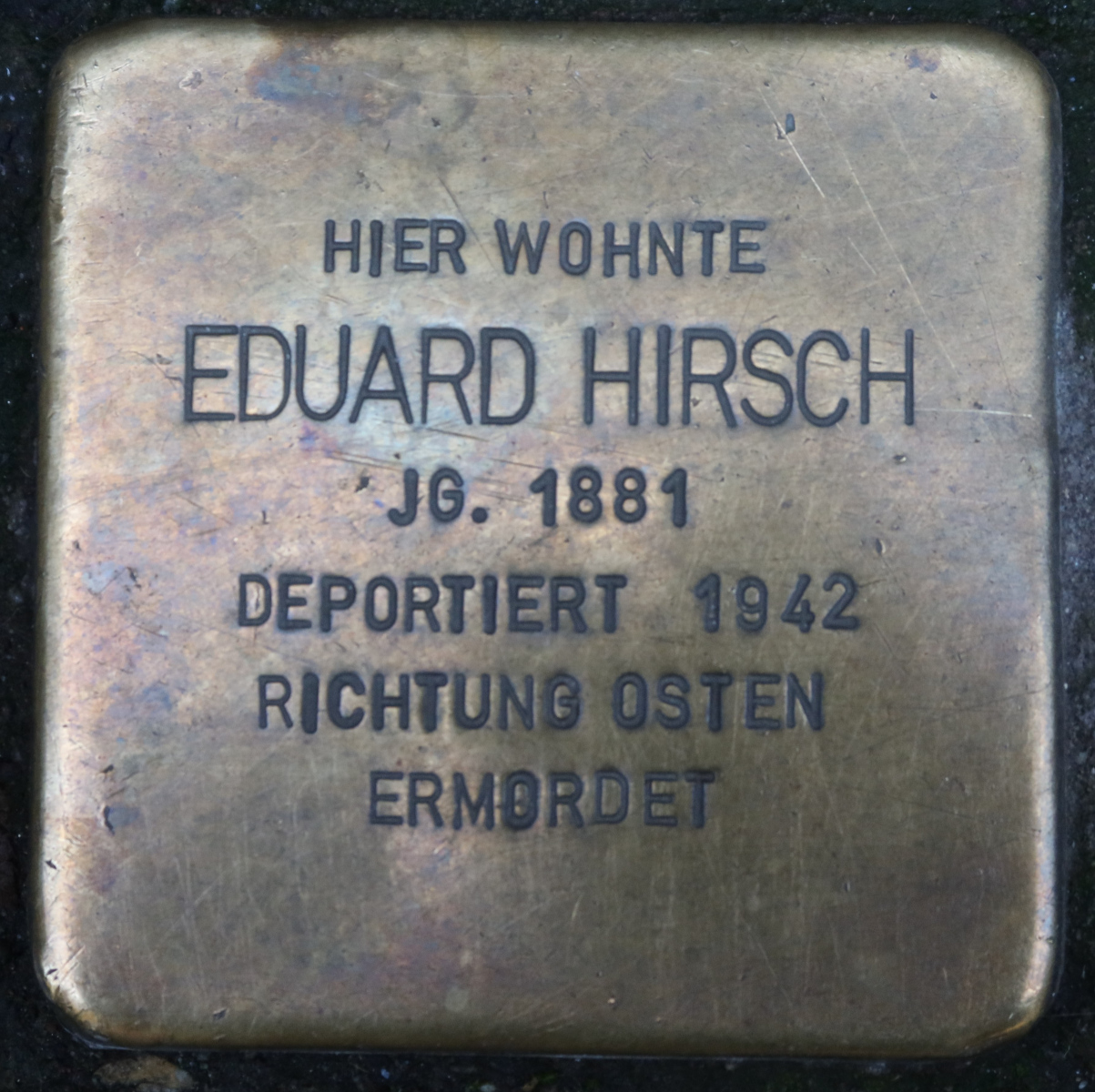 Stolperstein von Eduard Hirsch