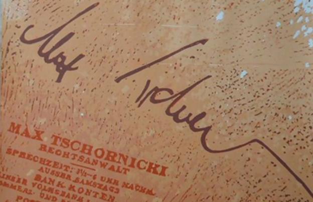 Unterschrift von Max Tschornicki