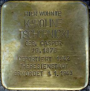 Stolperstein von Karoline Tschornicki
