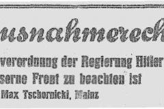 'Reichstagsbrandverordnung' Tschornicki