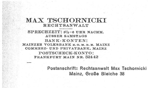 Briefkopf der Kanzlei Tschornicki